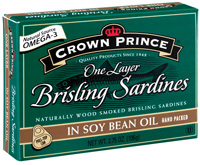Brisling Sardines in Soy Bean Oil