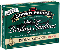 Brisling Sardines in Soy Bean Oil No Salt