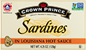 sardines in Louisiana hot sauce